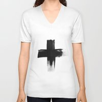 cross V-neck T-shirts featuring Cross by RK // DESIGN
