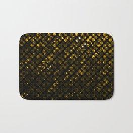 Crystal Bling Strass Gold G321 Bath Mat