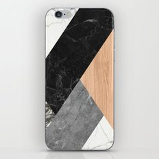 Marble and Wood Abstract iPhone & iPod Skin
