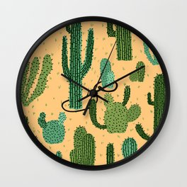 The Snake, The Cactus and The Desert Wall Clock