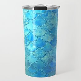 Summer Dream Colorful Trendy Mermaid Scales Travel Mug