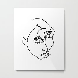 blind contour Metal Print