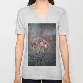 Trapped Roses Unisex V-Neck