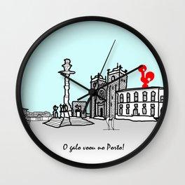 O galo voou no Porto! Wall Clock