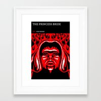 princess bride Framed Art Prints featuring The Princess Bride by David Edward Johnson