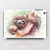 sloth iPad Cases featuring Sloth by Olechka