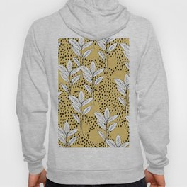 Summer leaves fall is coming garden and raindrops ochre yellow Hoody