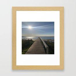 The longest jetty Framed Art Print