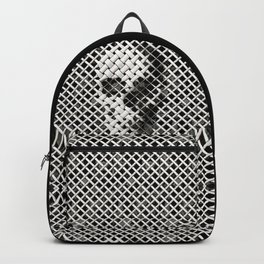 Wicker Skull Backpack