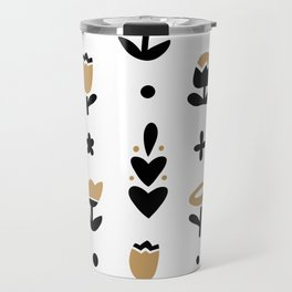Minimal flowers bicolor Travel Mug