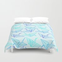 origami Duvet Covers featuring Origami by StudioBlueRoom