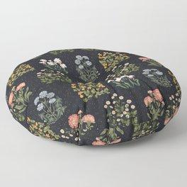 Wild Flowers ~ vol4. ~ dark Floor Pillow