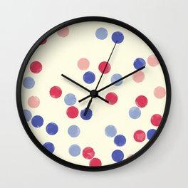 WATERCOLOR CONFETTI Wall Clock