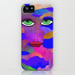 Eyes and Lips Colorful iPhone Case