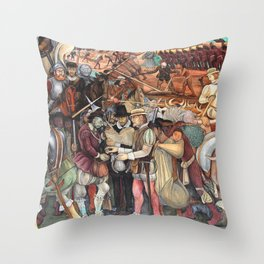Mural by Diego Rivera Throw Pillow