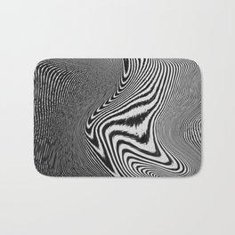 Zebra Topography Bath Mat
