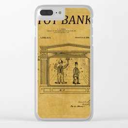 Toy Bank Patent 13 Clear iPhone Case