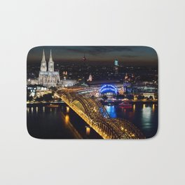 Cologne Cathedral and Hohenzollern Bridge Bath Mat