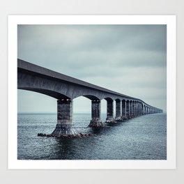 Confederation Bridge Art Print