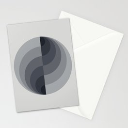 Marble Gray Globe LT Stationery Cards
