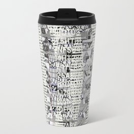 The Eternal Return Of The Unique Event (P/D3 Glitch Collage Studies) Travel Mug