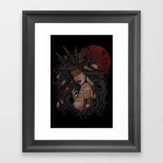 She of the Golden Feather Framed Art Print