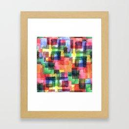 Watercolor blots plaid :) Framed Art Print