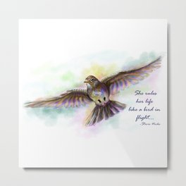 Natasha's Skylark-Stevie Nicks Quote Metal Print