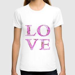 Love #1 pink T-shirt
