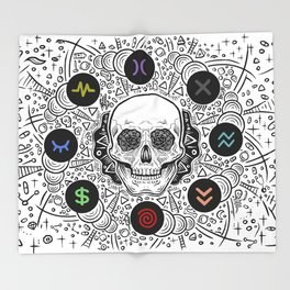 Side Effects Inverted Cover Art Throw Blanket