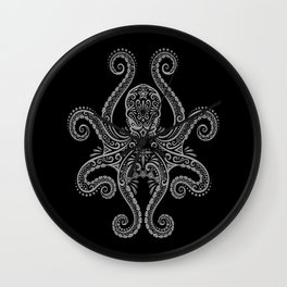 Intricate Dark Octopus Wall Clock
