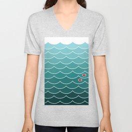 Deep Ocean Fish Unisex V-Neck
