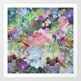 Succulents Paradise Art Print