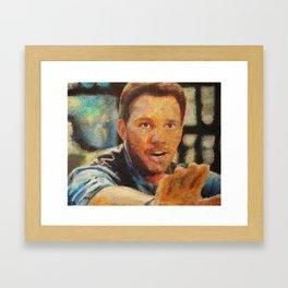 Jurassic World: Chris Pratt Framed Art Print