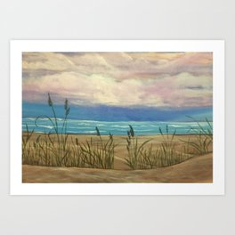 Dusk on Lake Michigan Art Print