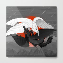 The Great Yin Yang Battle Metal Print