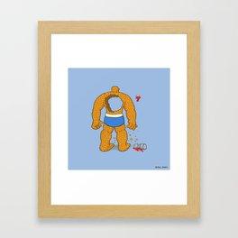 Oooooooh Shit! Framed Art Print