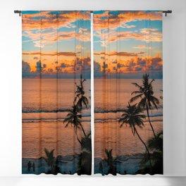 Beach Sunset Blackout Curtain
