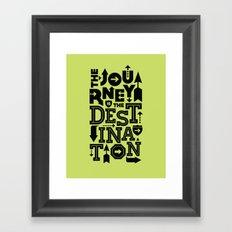 Green Journey Quote Framed Art Print