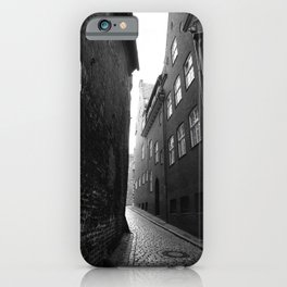 The alley photo in black and white iPhone Case