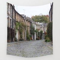 edinburgh Wall Tapestries featuring Edinburgh street by RMK Creative