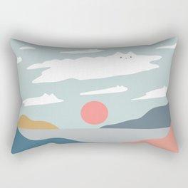 Cat Landscape 23 Rectangular Pillow