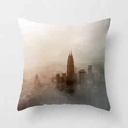 Foggy City Throw Pillow