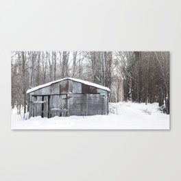 Beautiful Snowy Barn in Upper Michigan Canvas Print