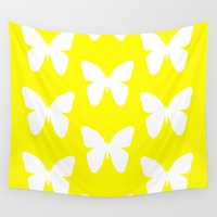 butterfly Wall Tapestries featuring Butterfly by Naked N Pieces