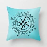 nautical Throw Pillows featuring Nautical  by gypsykissphotography