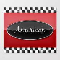 american Canvas Prints featuring American by politics