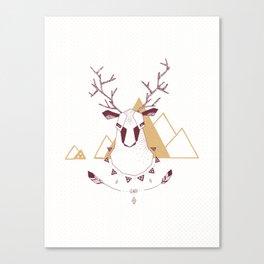 Christmas Geo Deer 2 Canvas Print