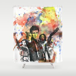 Fire Fly Poster Shower Curtain