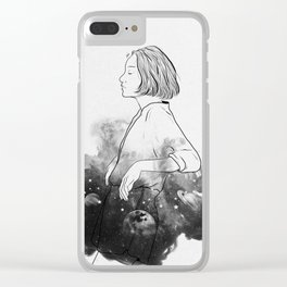 Night stories b&w. Clear iPhone Case
